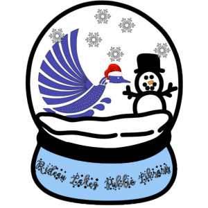 Image of Luna and Snowman in a Snowglobe