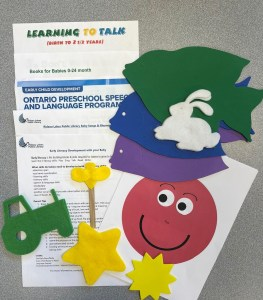 Resource kit for baby and parent. Information sheet and felt shapes / puppet.