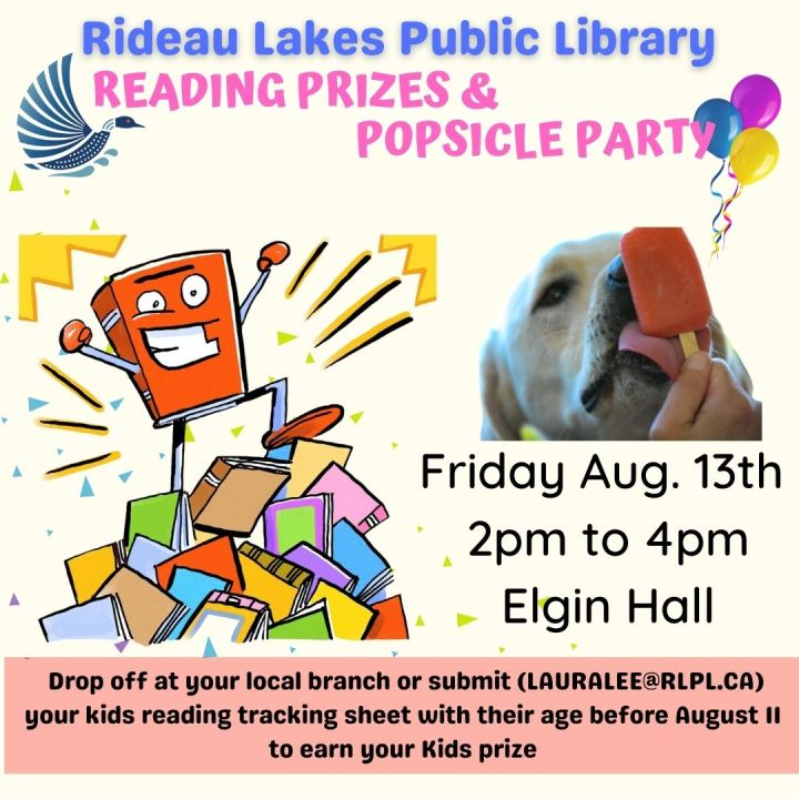 Reading prizes & popsicle party