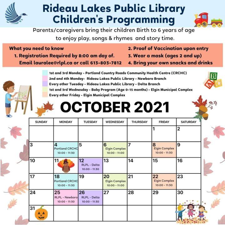 Children's Program calendar
