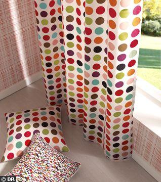 Rideaux design – esprit multicolore
