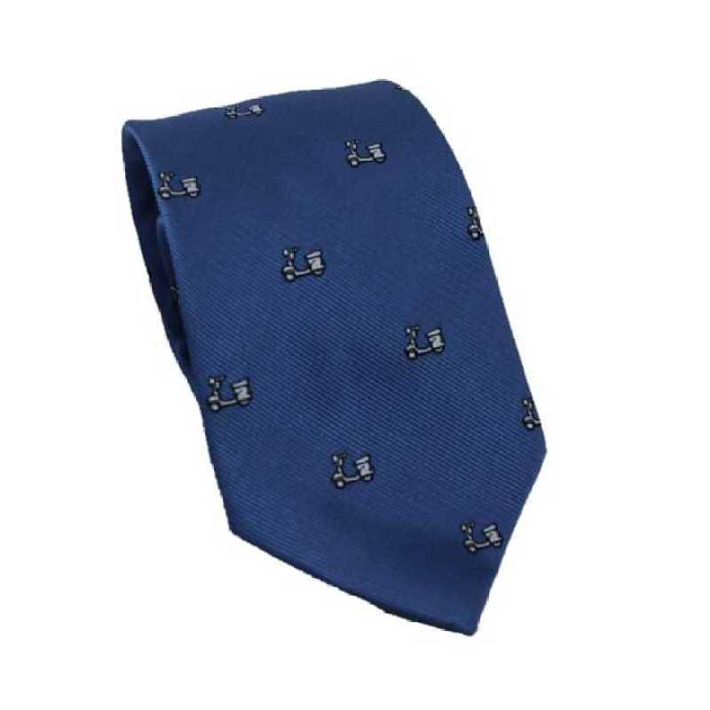 Corbata azul denim estampado vespa