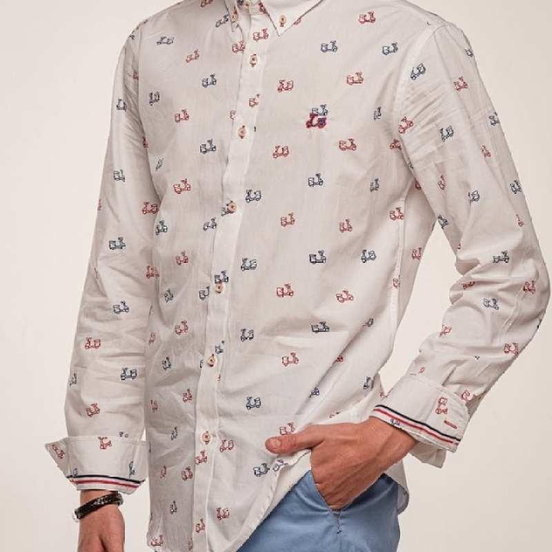 Camisa Algodón Estampado Vespas