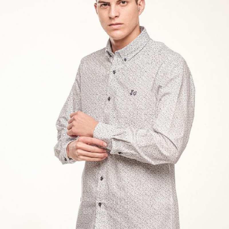Camisa estampada de algodón