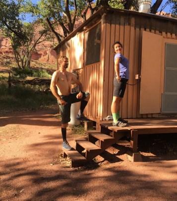 Gateway hut, Wonder Woman pose vs captain Morgan stance
