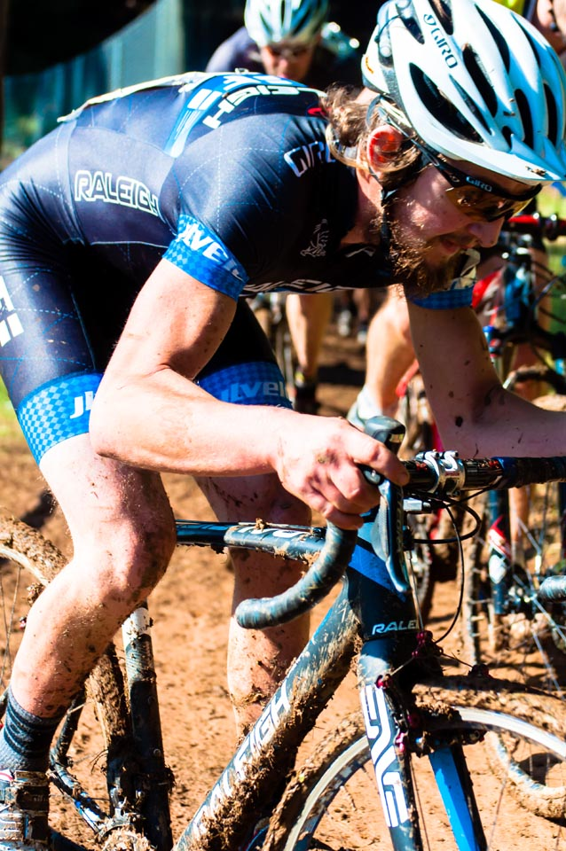 Adam McGrath, blending power with finesse in the mud.
