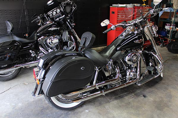 Viking Saddlebags for Our Softail Deluxe - Ride it Wrench It