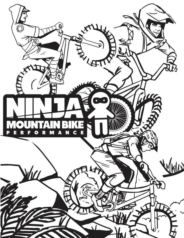 NINJA COLORING PAGES  Ninja Mountain Bike Skills