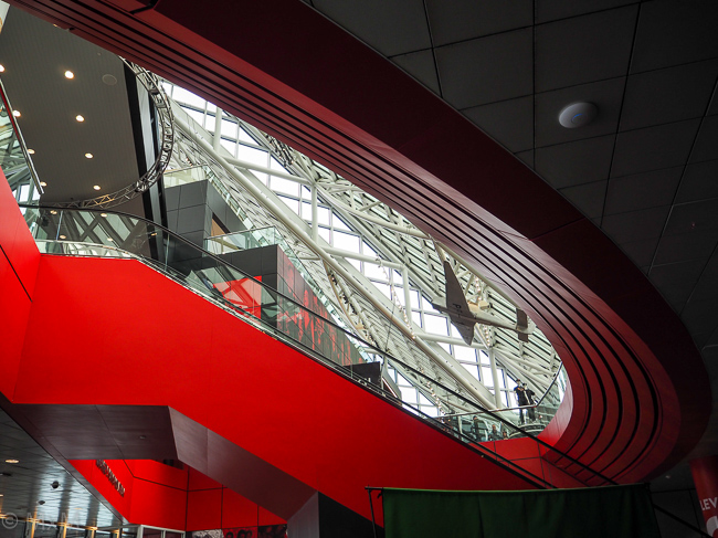 Cleveland Rock & Roll Hall of Fame-The view from below...