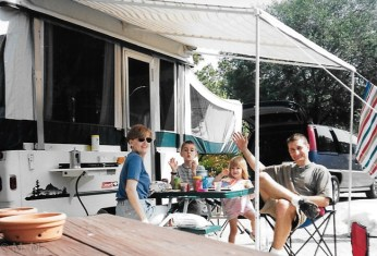 Quick meal before setting off to explore, 2001