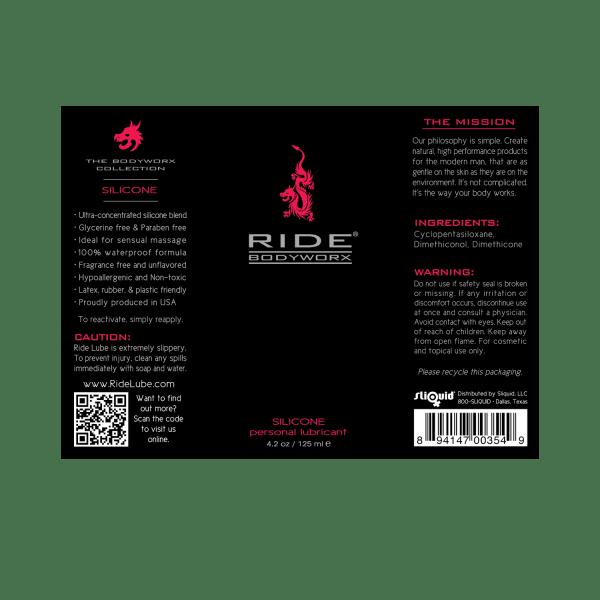 Ride BodyWorx Silicone - 4.2oz Label Graphic