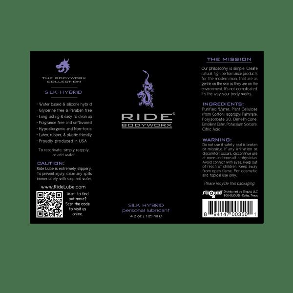 Ride BodyWorx Silk Hybrid 4.2oz - Label Graphic