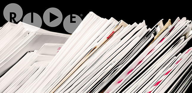 Letter post with stacks of incoming and outgoing mail