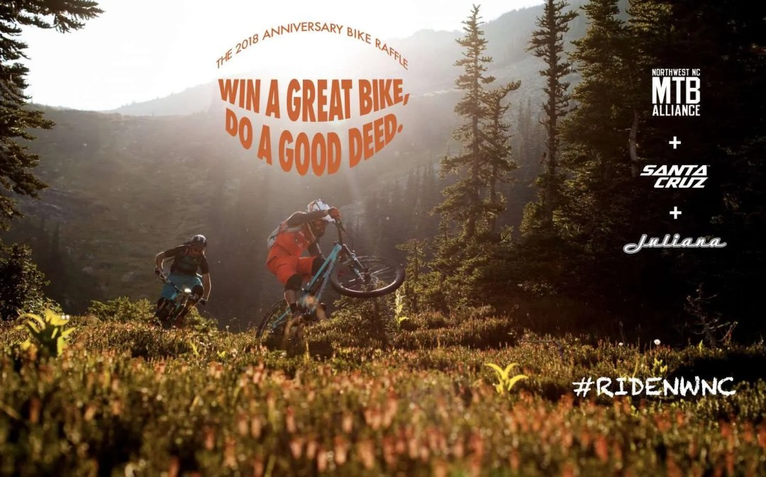 Win a carbon full suspension mountain bike in our anniversary raffle!