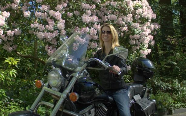 Leela on the Bike