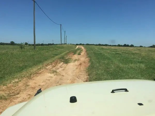 Getting here requires a bit of off road riding. A pickup truck or any motorcycle can make it pretty easily.