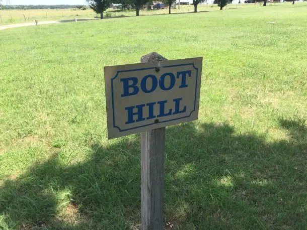 Boot Hill is where the locals buried outlaws when nobody would claim the body.