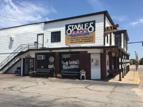 Stables Cafe in Guthrie is a great place to start your trip. They offer great food and are open 7 days per week.