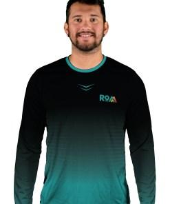 long sleeve fade to black mens mtb jersey