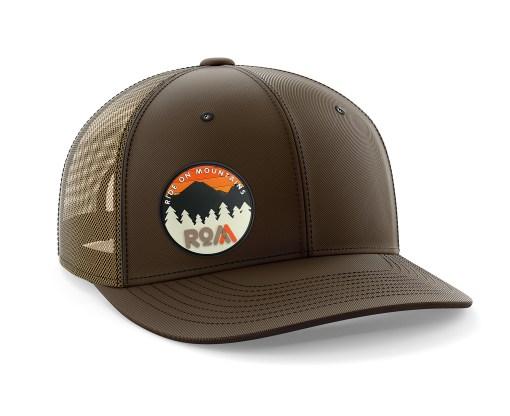 mens trucker hat brown outdoors