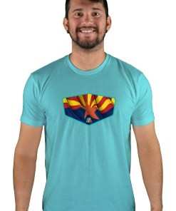 mens mtb copper state tahiti blue t-shirt