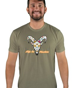 mens mtb el muerto light olive t-shirt