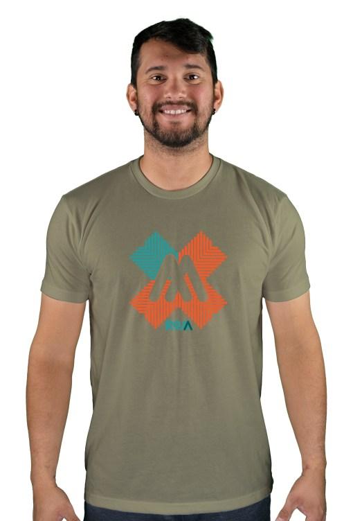 mens mtb rom-x light olive t-shirt