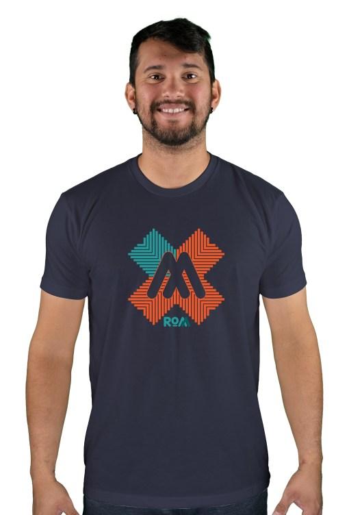 mens mtb rom-x midnight blue t-shirt