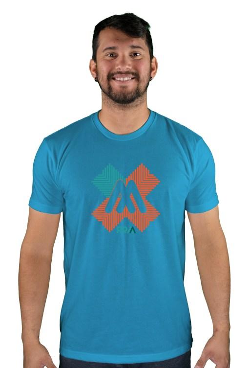 mens mtb rom-x turquoise t-shirt