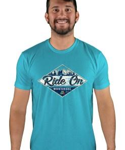 mens mtb rom chillin bondi blue t-shirt