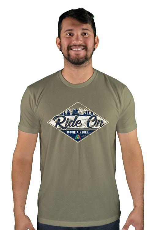 mens mtb rom chillin light olive t-shirt