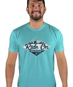 mens mtb rom chillin tahiti blue t-shirt