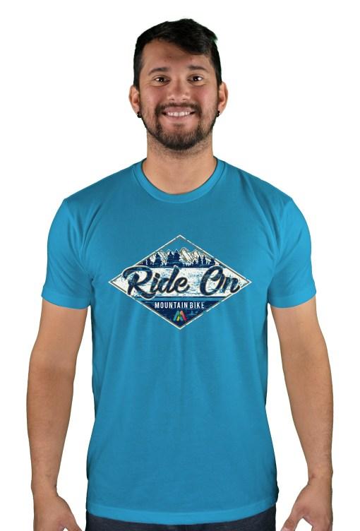 mens mtb rom chillin turquoise t-shirt