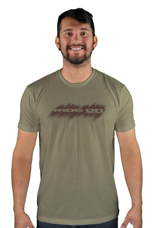 mens mtb tire tread light olive t-shirt