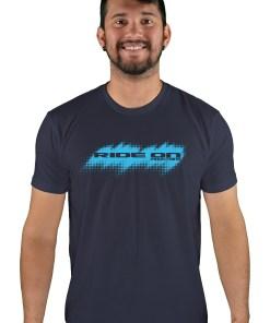 mens mtb tire tread midnight navy t-shirt
