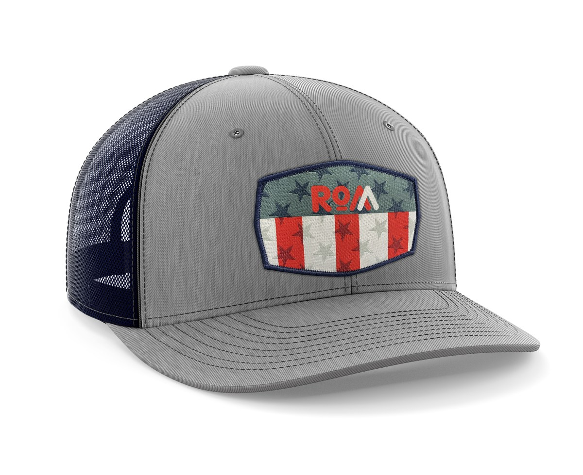 USA Patch Brushed Grey Trucker Hat