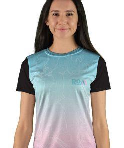 womens short sleeve topo map mountain bike jersey