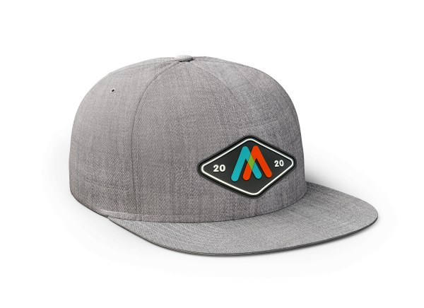 brushed grey hat flat bill 2020