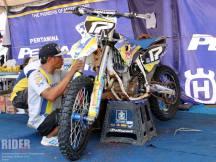 Paddock Husqvarna Motocross Championship Indonesia 2015.