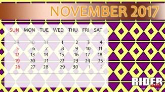 Kalender 2017 - November