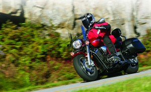 Despite its heft, the V Star will hold its own in the twisties.