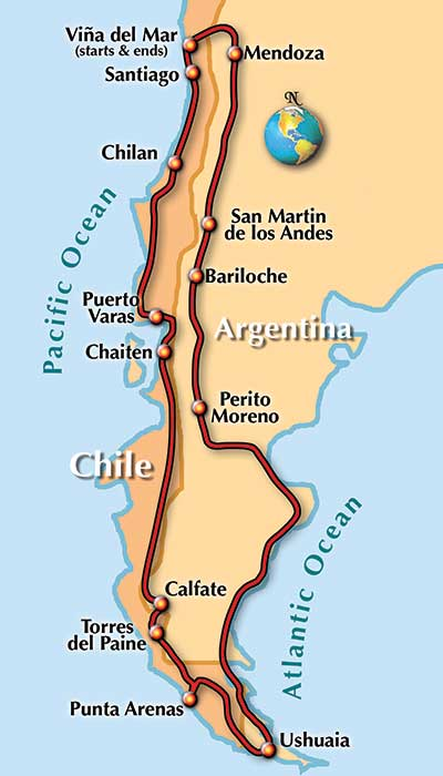 Tierra Del Fuego Motorcycle Tour With MotoDiscovery Rider - Argentina map tierra del fuego