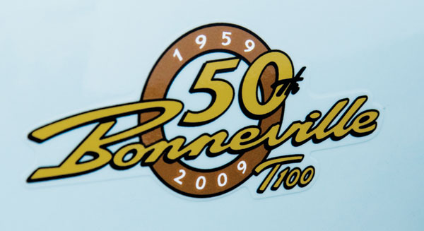 The side-panel logo for the 50th Anniversary edition.