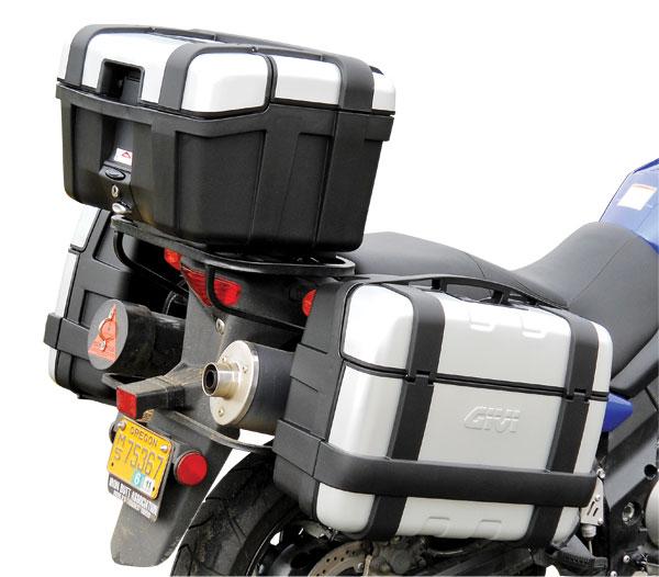 givi trekker cases motorcycle luggage review rider magazine rider magazine. Black Bedroom Furniture Sets. Home Design Ideas