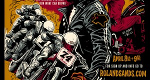 Roland Sands Design presents short track racing in Austin, TX, April 8. The event coincides with the Handbuilt Motorcycle Show, MotoGP, and AMA Pro Flat Track Racing.