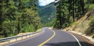 Route 36 through the coastal mountains. (Photos by the author)