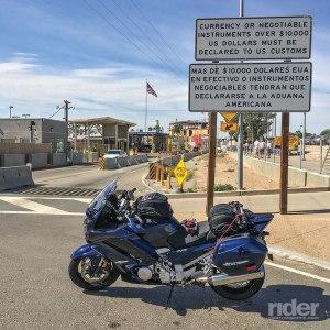 2016 Yamaha FJR1300ES, southeast corner of California