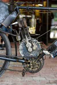 Close-up of Dale Walksler's 1903 Indian. (Photo by Barry Hathaway)