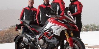 Ducati Multistrada 1200 Pikes Peak 100th Anniversary replica kit, with Ducati Squadra Alpina Team. (Photo: Ducati)