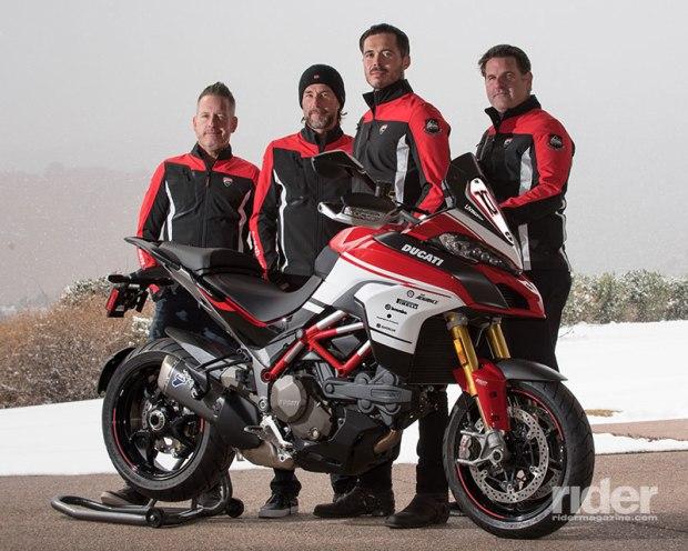 Ducati Multistrada 1200 Pikes Peak 100th Anniversary replica kit, with Ducati Squadra Alpina Team. (Photo: Ducati)